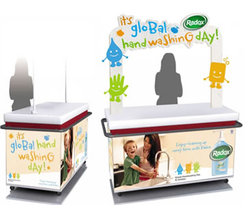 Radox / Sainsburys Global handwashing day 2012 promotional stand